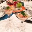 作ってみたら、簡単で美味しかった、、桃と鯛のカルパッチョ。