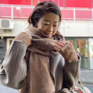 冬将軍が到来...。ストール&手袋で完全防寒!