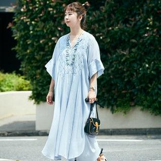 【40代コーデ】日常で着られる「大人のリゾートMIXコーデ」着こなしサンプル53