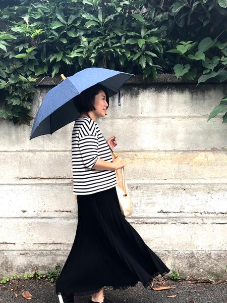 雨の日が待ち遠しくなるデニム地の傘スライダー1_2