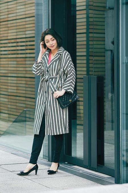【女優の私服】今から夏まで着られるアウターはリネンコートスライダー1_1