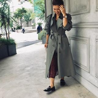【大草直子コーデ】冬の定番「トレンチコート」の着こなしアイデア19