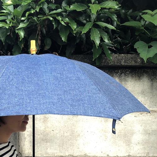 雨の日が待ち遠しくなるデニム地の傘スライダー1_3