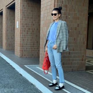 H&MのジャケットとシャネルのローファーでHIGH&LOWのトラッドスタイルに