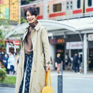 【スナップ】ルイ・ヴィトンのバッグを差し色に、秋らしいカジュアルなトレンチスタイル