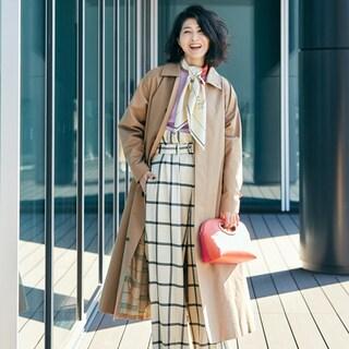 【40代コーデ】「春スカーフ」の巻き方アイデア49