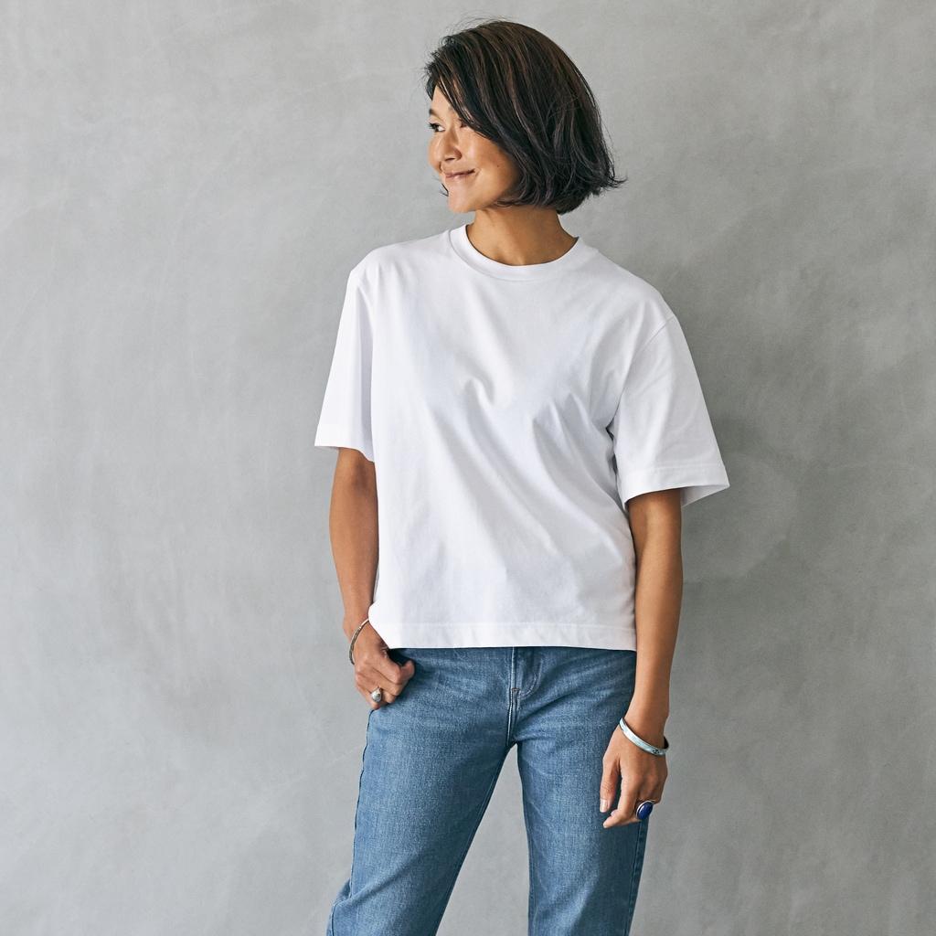 【ユニクロTシャツ6サイズ着比べ】レディースとメンズの違い。自分に合うサイズ選びのコツ