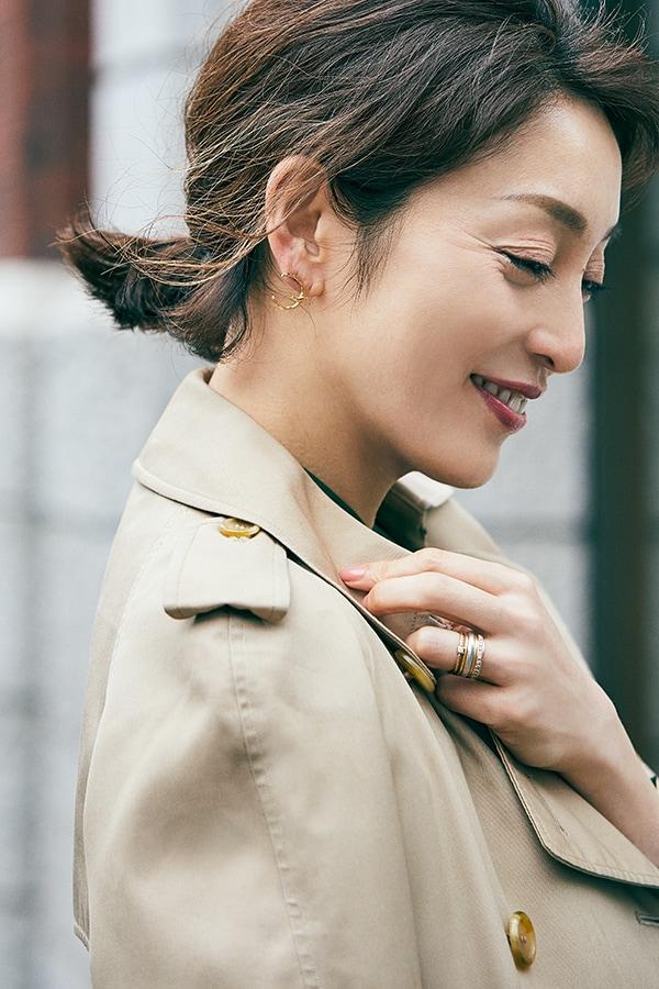 【女優の私服】好きは永遠。20年来愛用のトレンチコートはバーバリーのヴィンテージスライダー1_3