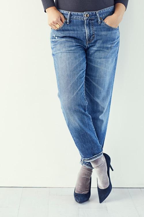 デニムに合う靴下とは?「ツヤ or 厚手のもの」で今年っぽくスライダー1_2