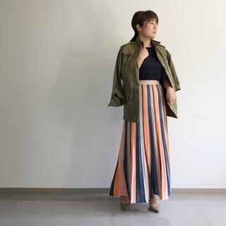 お気に入りのニットプリーツスカート by望月律子
