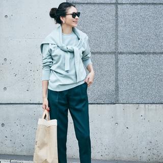 【40代コーデ】1点で新鮮!旬の「グリーン」を大人が着こなすコツは?