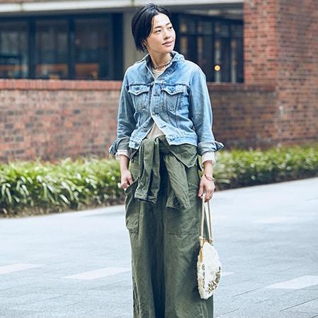 【40代コーデ】「マキシスカート」のラクなのにおしゃれ!な着こなしテクニック50