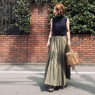 セールで購入、第二弾! 小柄さんにも優しい「アッパーハイツ」のマキシ丈スカート
