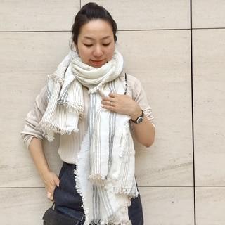 夏だって包まれたい! アソース メレのリネンストール by川良咲子