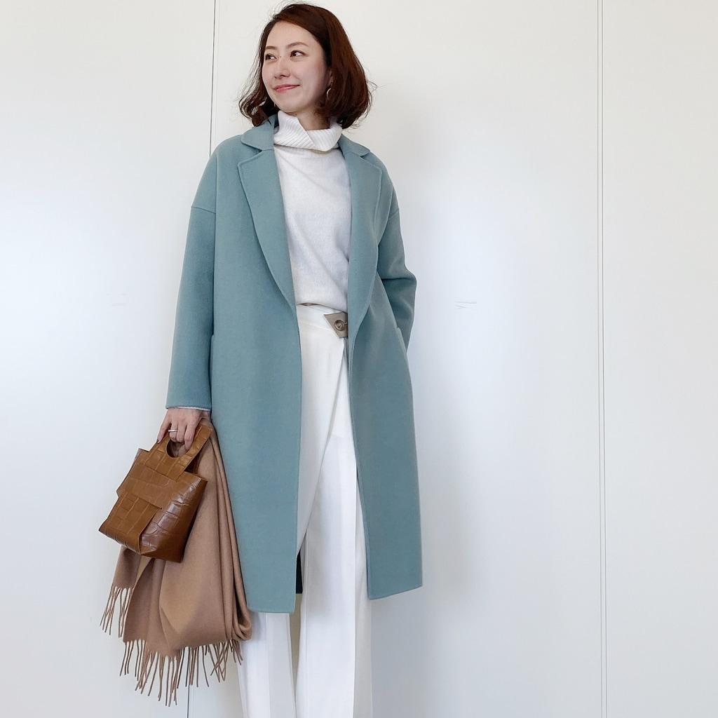 この冬欲しい「くすみグリーン」のコート【きれいめ派代表・林 智子さん】