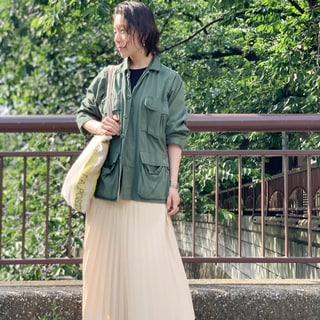 外出自粛明けは、お久しぶりのスカートで