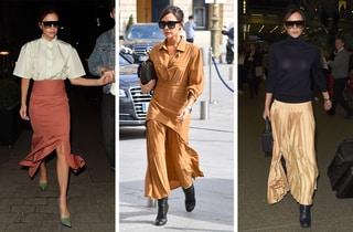 揺れるスカートに女らしさを薫らせて♡ ヴィクトリア・ベッカムの春スタイル拝見!
