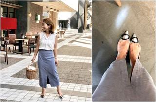 衣替えで残したコーデュロイスカートを夏仕様に by鈴木亜矢子