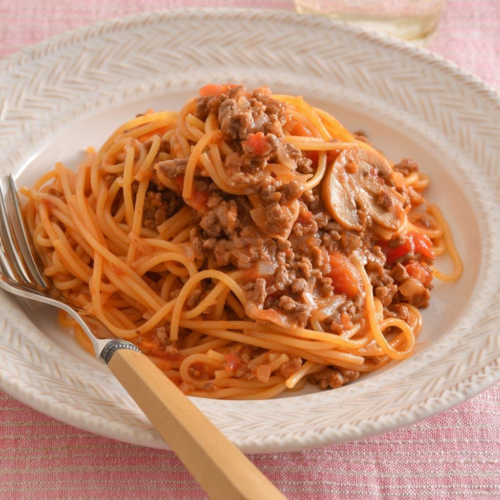 「茹でない」ミートソーススパゲティは普通に作るより美味しくて時短!