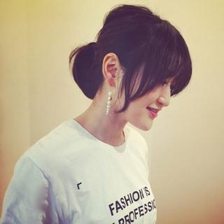 まとめ髪に合わせたいパールピアスby 室井由美子
