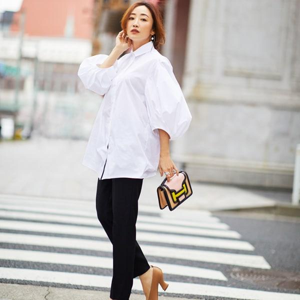 【40代コーデ】美容家・神崎恵さん!ファッションとヘアメイクのバランス学コーデまとめ