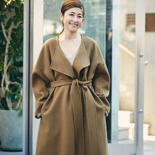 【スナップ】上質な美シルエットコートで冬の着こなしをアップデート