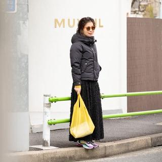 大人の女性のダウンジャケットは甘辛MIXで着るのが鉄則!【5日間コーデ】
