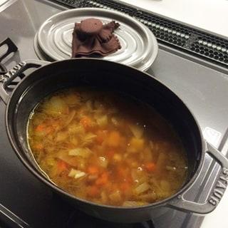 冬の朝食はスープ!