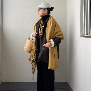 【50代ファッション】冬のお気に入りは「カシミアベレー帽」