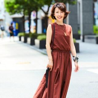 【40代コーデ】女をあげるカラーワンピースの着こなし40選