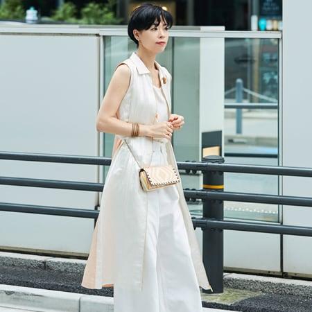 【40代コーデ】夏こそ洗練された白を着る!おしゃれスナップ53