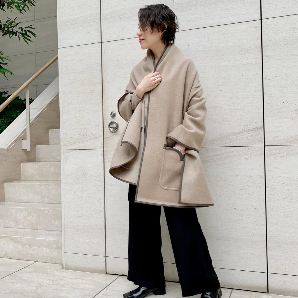 【3点着比べ】旬顔アウター「ケープ」で着こなしを新鮮に