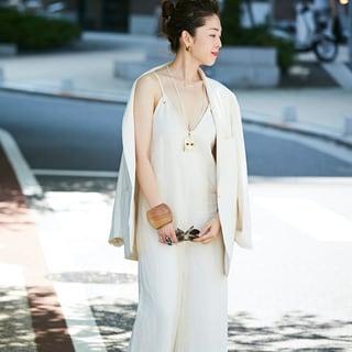 夏の日差しにクールに映える! 上級オールホワイトスタイル