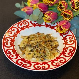 きのこと胡桃のパスタのレシピ【美味しいヴィーガン料理】