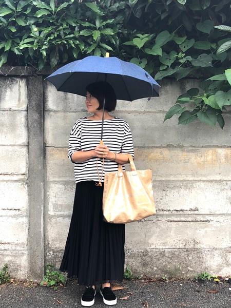 雨の日が待ち遠しくなるデニム地の傘スライダー1_1