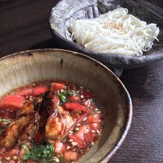 【旬食材レシピ】牡蠣とトマトの素麺
