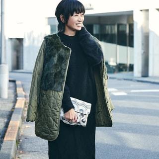 【スナップ】数年かけて見つけた理想の服で大人のカジュアルブラックが完成