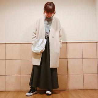 着ぶくれしない防寒にはマキシフレアスカートが使える! by榎本洋子