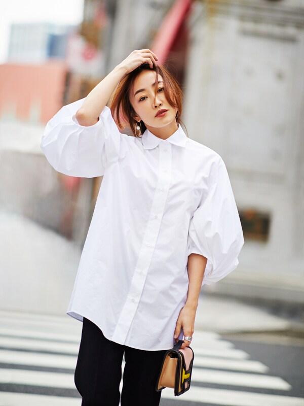 神崎恵さんの私服公開「これまで苦手だった白シャツが着られるようになったワケ」スライダー1_3