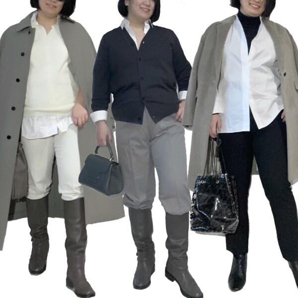 【全身ほぼユニクロ】3枚のプチプラ服でぽっちゃり体型の着やせコーデ