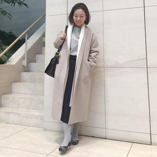 ロープベルトでコートを暖かくアレンジ♡ by川良咲子