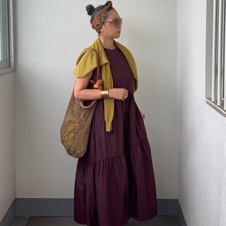 """【50代ファッション学】季節の変わりめは""""秋色のワンピース"""