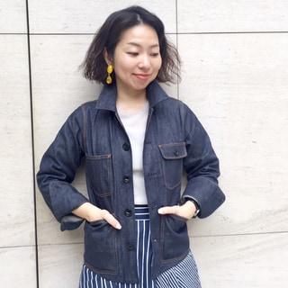 大きなポケットが好き!マディソンブルーのデニムジャケット by川良咲子