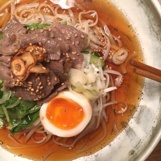 【旬食材レシピ】スタミナ冷麺&簡単豚トロつけそば