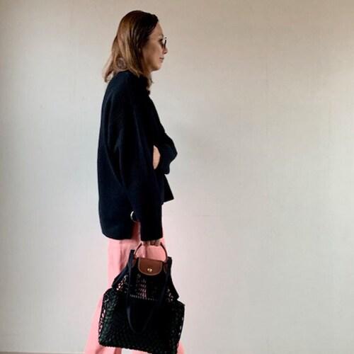 春夏にぴったりな「ロンシャン」のネットバッグ。スタイリストいち押しの色は?