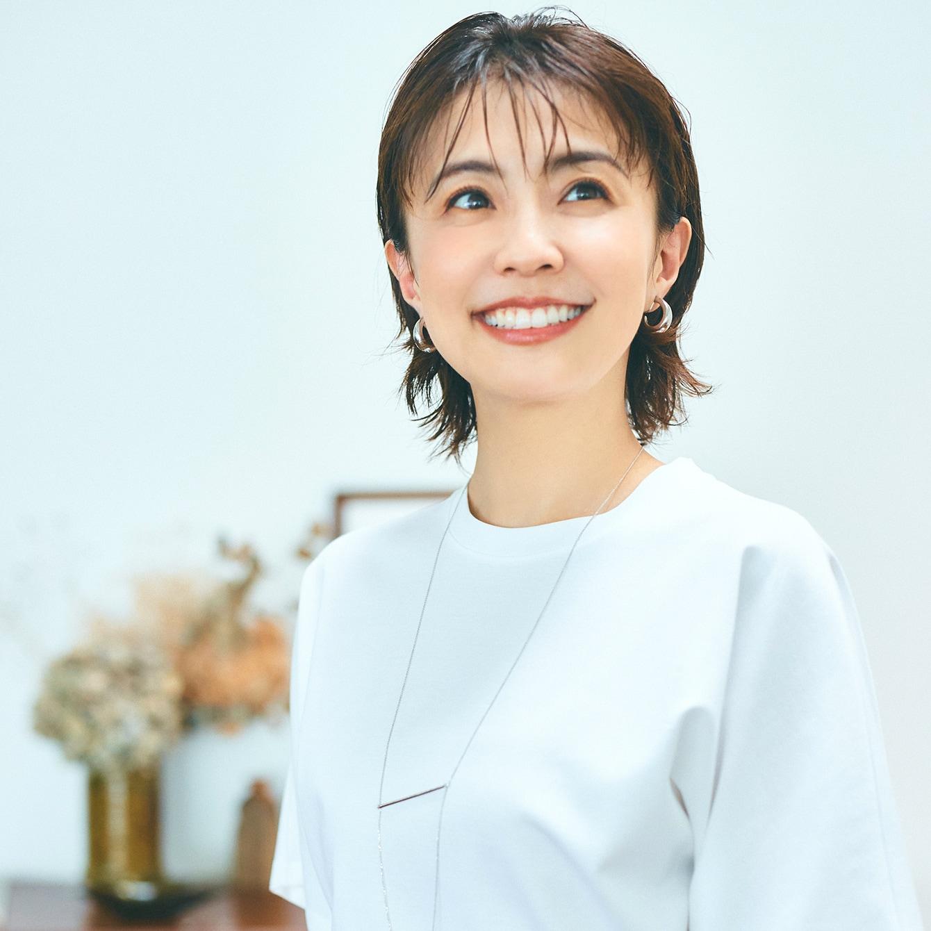 【小林麻耶さん】髪を切って服はどう変わる?苦手だった白Tシャツに挑戦