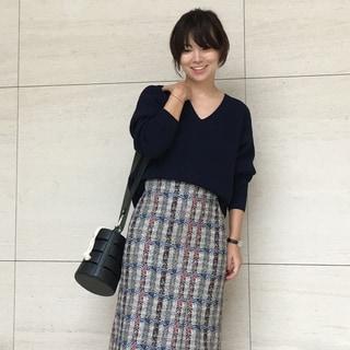 【動画あり】ファッションエディター発田美穂がセレクト!展示会で一目惚れしたチェック柄スカートを主役に♡