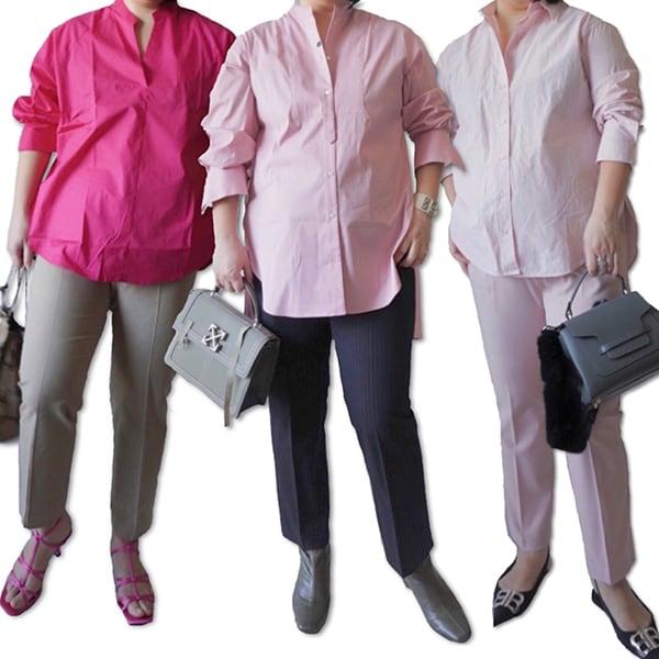 【40代のピンク】イタく見えないコーディネート術「ぽっちゃりコンサバエディター」