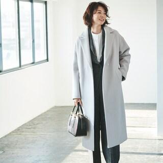 ジャケットの上に着られるコートはこの2パターンで【スタイリスト川上さやか】