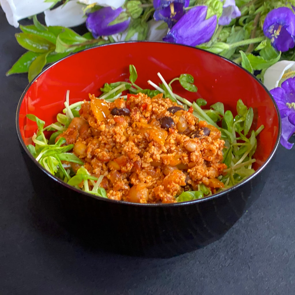 豆腐ミートで作る簡単チリビーンズ【美味しいヴィーガンレシピ】